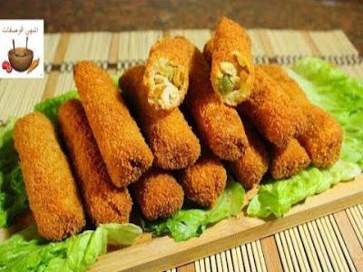 رولات التوست بالدجاج المقرمشة لذيذة جدا وسهلة وسريعة