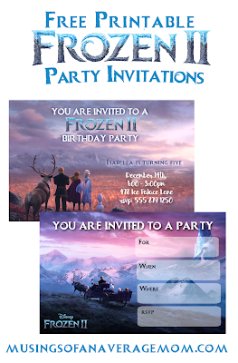 free frozen 2 birthday printables
