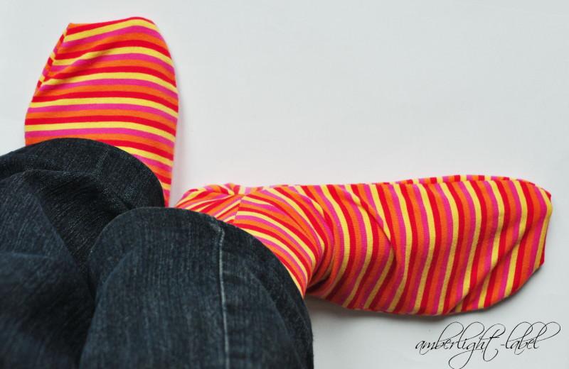 Socken nähen - amberlight-label