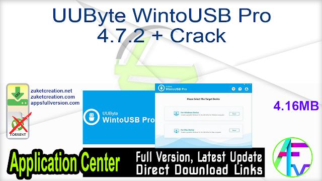 UUByte WintoUSB Pro 4.7.2 + Crack