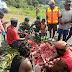 Lestarikan Tradisi, Prajurit Satgas 754 Bakar Batu Bersama Masyarakat Aroanop