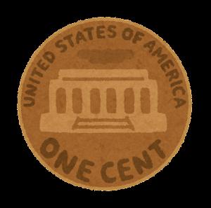 旧1セント硬貨のイラスト(裏)