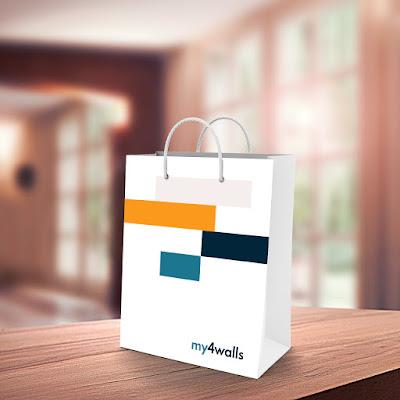 My 4 Walls Paper Bag Design Branding