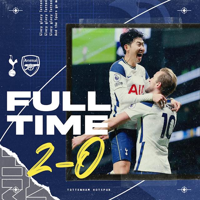Tottenham malukan Arsenal dalam Derby Utara London.