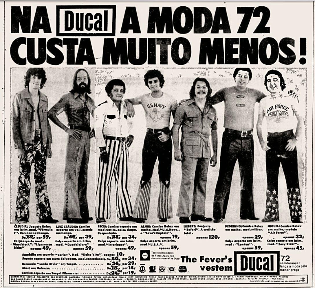 Promoção da Ducal com moda masculina para o ano de 1972