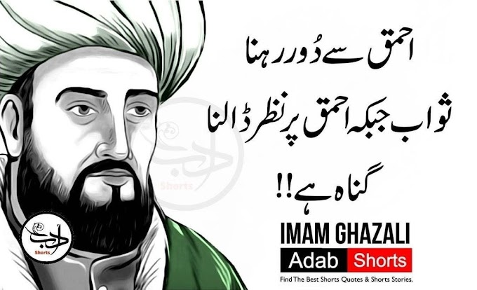 All Imam Al Ghazali quotes on sufism, quotes love, quotes on education, quotes in  Arabic, quotes happiness, best quotes Imam Al-Ghazali in Urdu