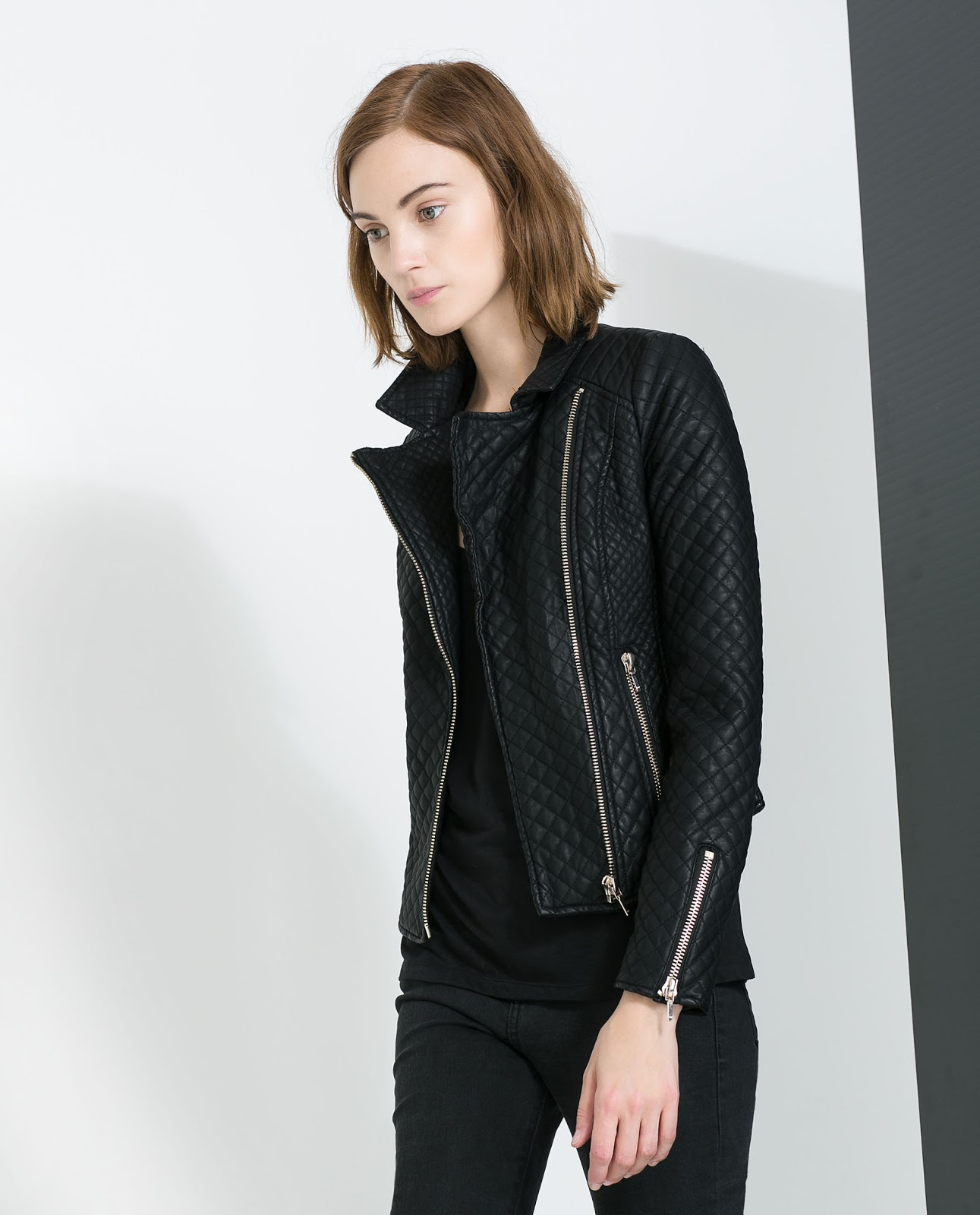 quilted collar faux normal clothing gallery leather in product guess lyst black jacket quilt fur
