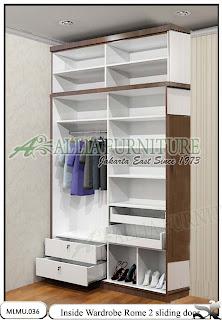 Dalam lemari minimalis sliding kaca unit cabinet Rome