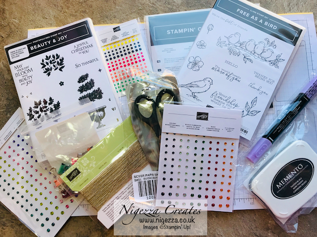 Nigezza Creates with Stampin' Up! Prizes and gifts I received on retreat