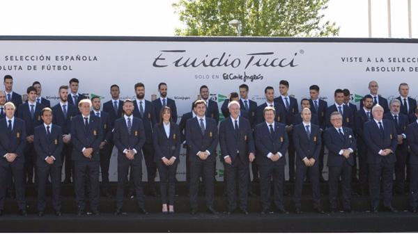 equipación traje oficial selección española fútbol Eurocopa 2016 Emidio Tucci El Corte Inglés