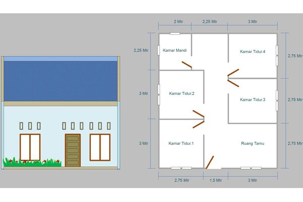 biaya-membangun-rumah-kost-4-kamar