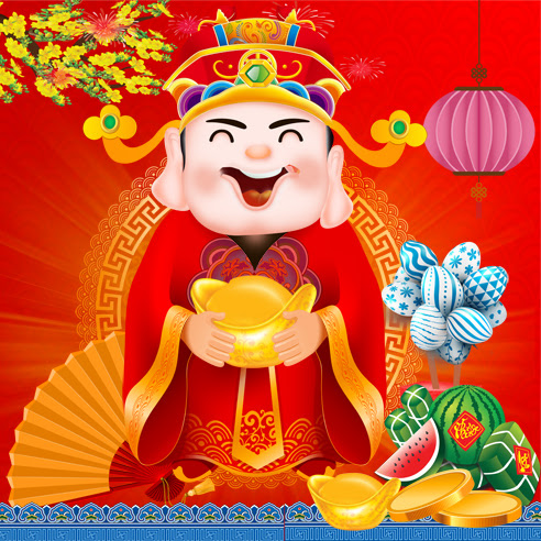 Chinese god of wealth psd