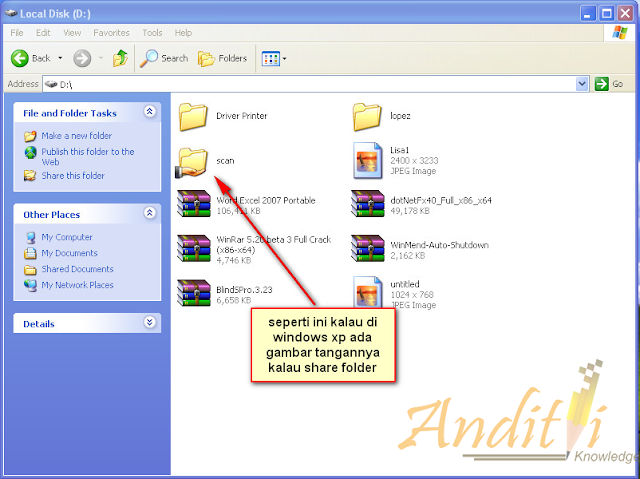 Cara Sharing Folder dalam Jaringan Komputer-anditii.web.id