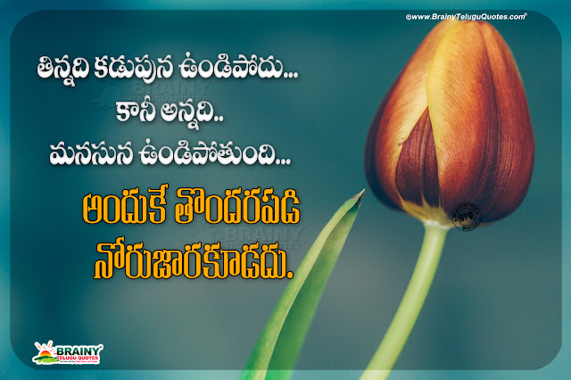 life changing words in telugu, best words on life in telugu, motivational life quotes, never hurt anyone with your words in telugu