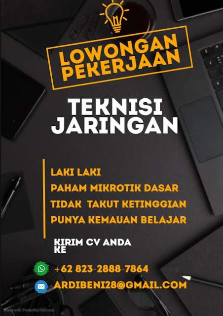Lowongan Kerja Teknisi Jaringan PT Jaringanku Sarana Nusantara Rembang Tanpa Syarat Pendidikan