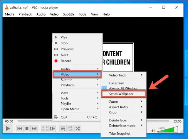 كيفية إضافة فيديو او خلفية متحركة لسطح المكتب علي ويندوز 10