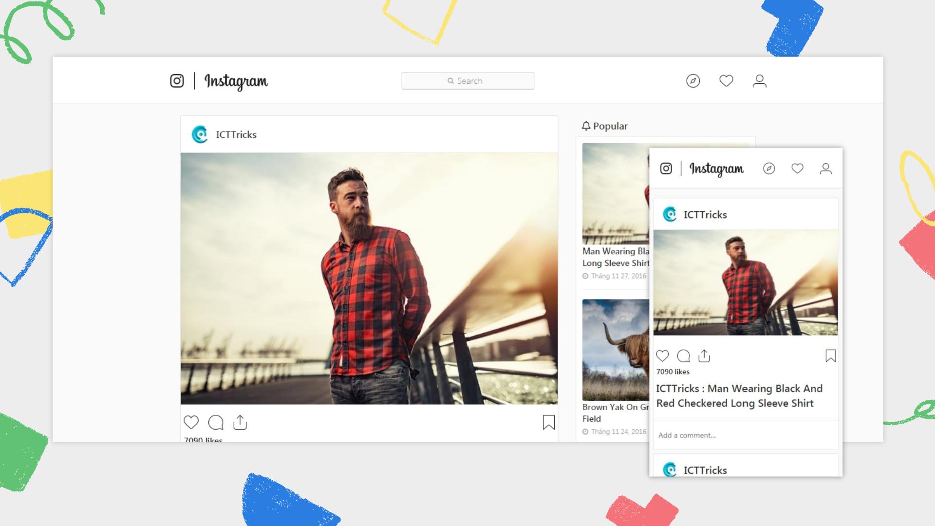 instagram-blogger-template