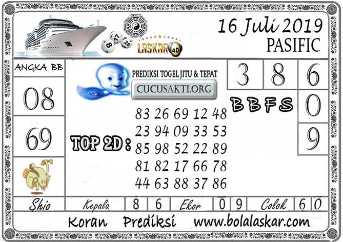 Prediksi Togel PASIFIC LASKAR4D 16 JULI 2019