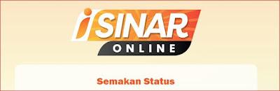 Semakan Status i-Sinar Online