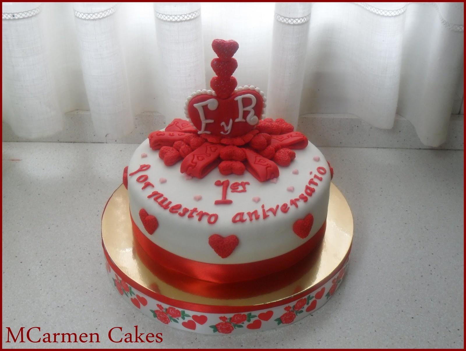 MCarmen Cakes: Tarta 1er Aniversario Boda
