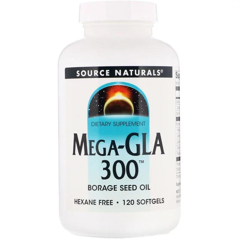 Source Naturals, Mega-GLA 300, 120 мягких таблеток