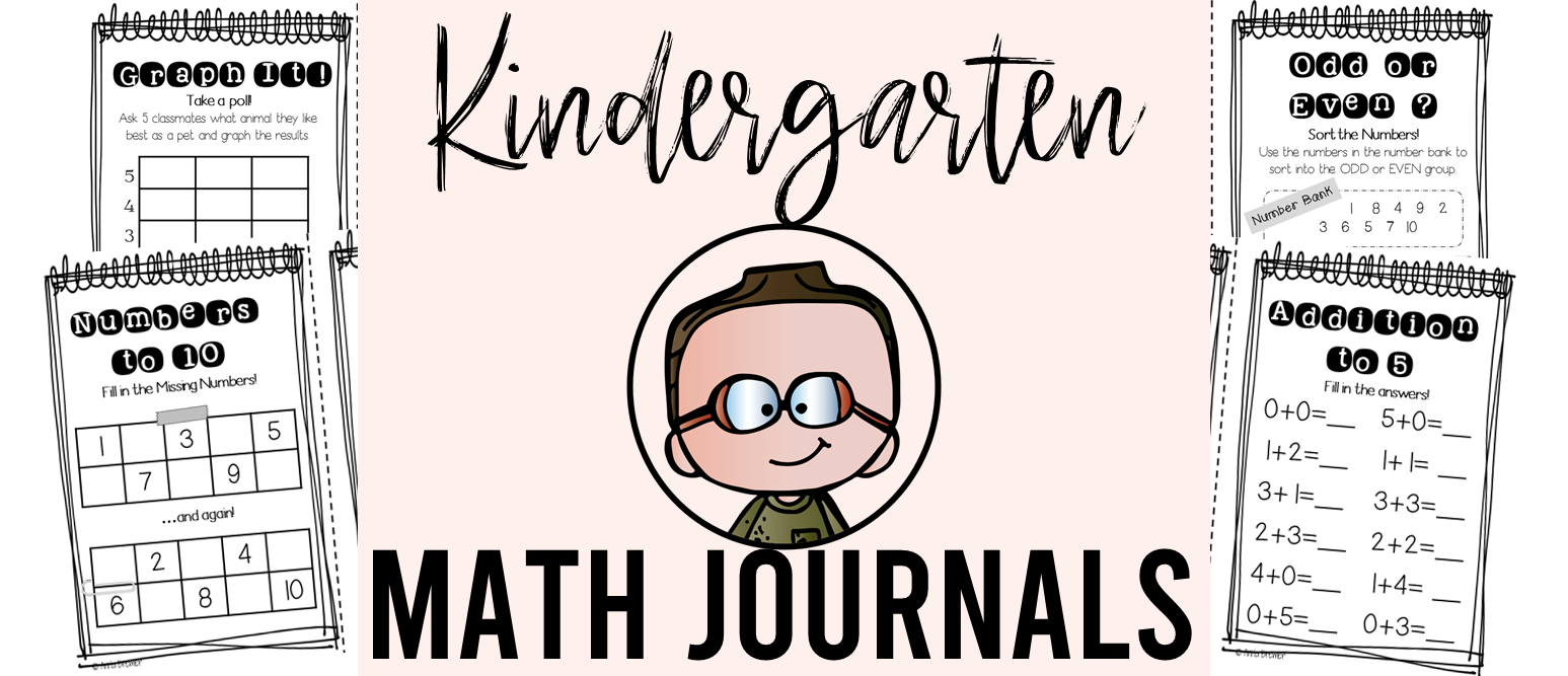 Kindergarten math journals filled with daily activities that meet Kindergarten Common Core learning standards #kindergarten #kindergartenmath #math #mathjournals