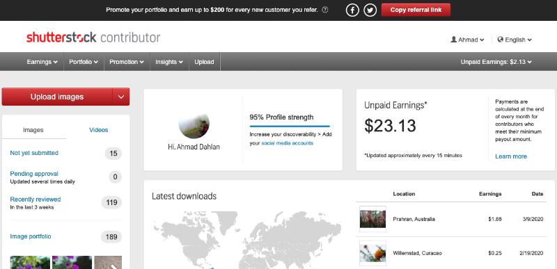 Jasa dan situs menjual foto melalui Shutterstock