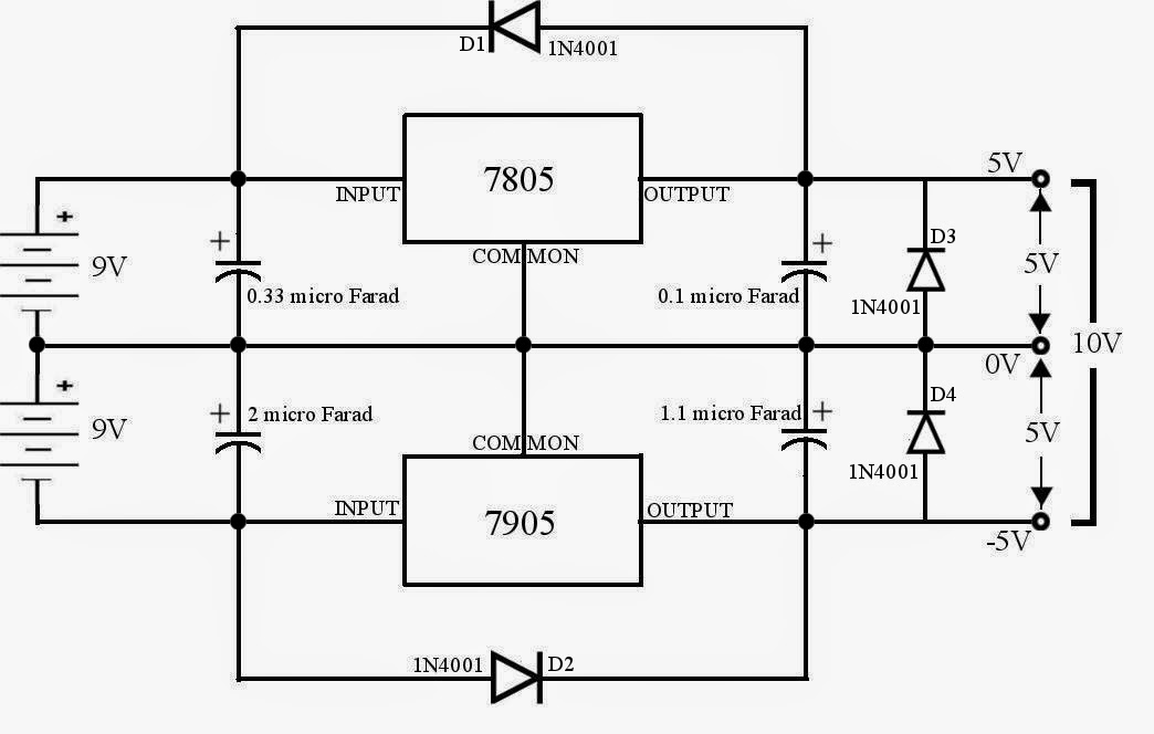 5v 0 5v Voltage Regulator Using 7805 on 8 pin relay pinout