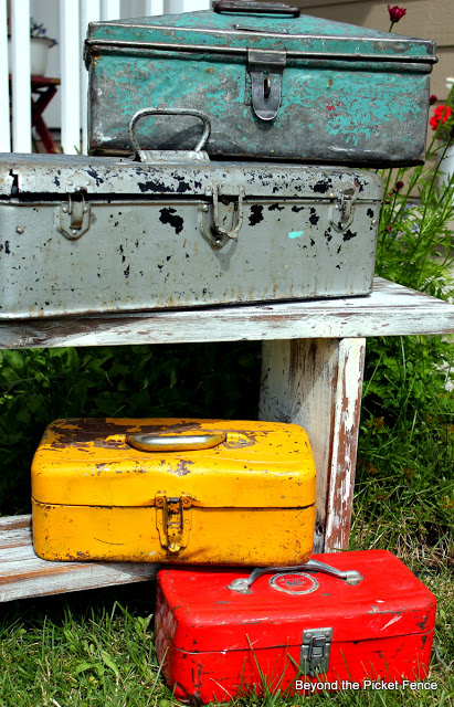 vintage toolboxes with great patinas
