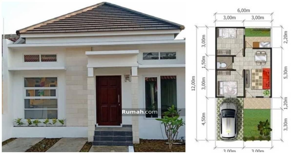 Desain Rumah 6x12 2 Kamar Tidur 1 Lantai Desain Rumah Minimalis