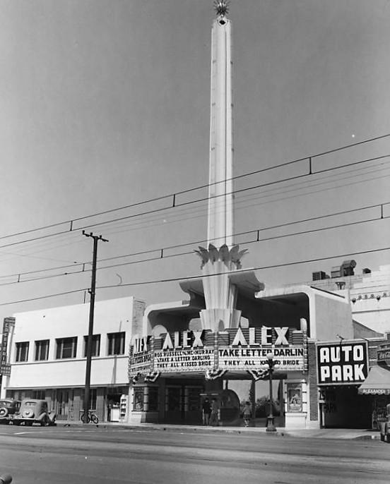 Los Angeles Theatres: Alex Theatre: history + exterior views