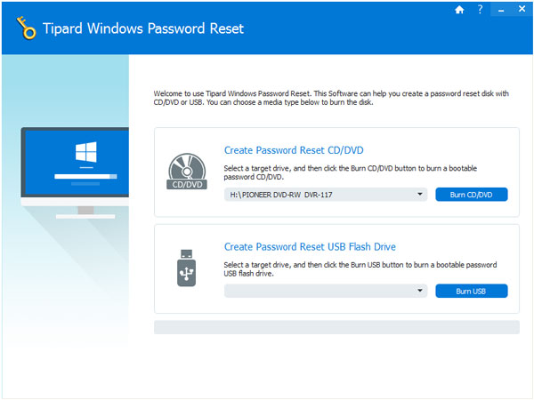 Screenshot Tipard Windows Password Reset Platinum 1.0.10.0 Full Version