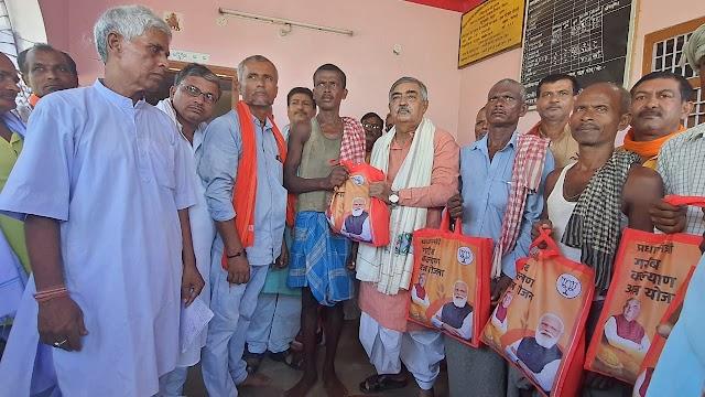 कोरोना काल में पीएम मोदी ने किए असाधारण काम, रखा गरीबों-मजदूरों का ख्याल : विधायक