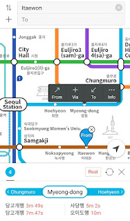 aplikasi yang membantu kita ketika menggunakan metro di korea