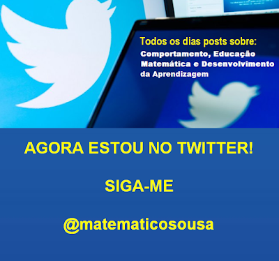 Valdivino Sousa: agora estou no twitter! siga-me @matematicosousa