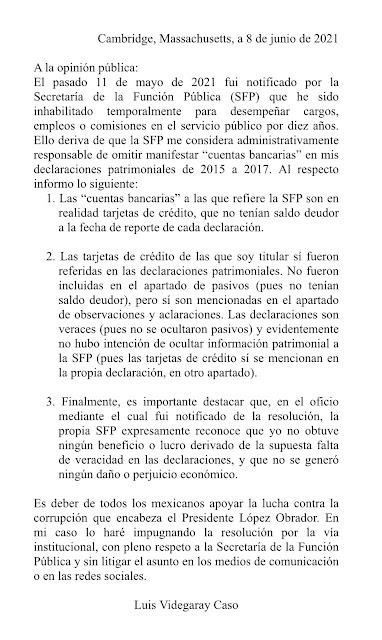 La SFP inhabilita por 10 años a un ex secretario de Hacienda y Crédito Público