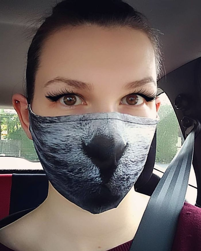 Weird and Protective Face Mask With Cat Designs