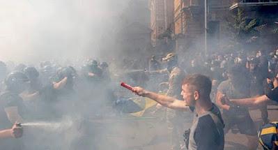 Под Офисом президента состоялась акция протеста против капитуляции