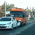 В Оболонському районі маршрутка без гальм врізалась в легковик