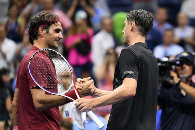 Federer cae en octavos de final ante John Millman