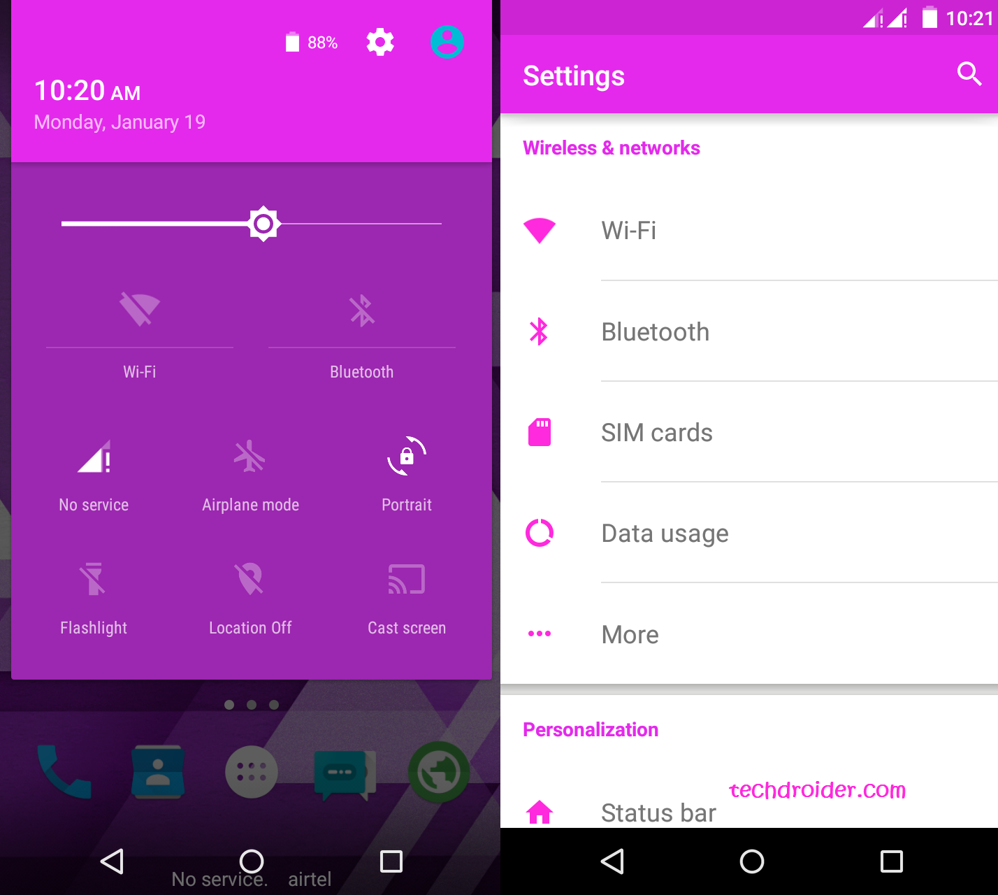 Purple Material , Cm12 theme