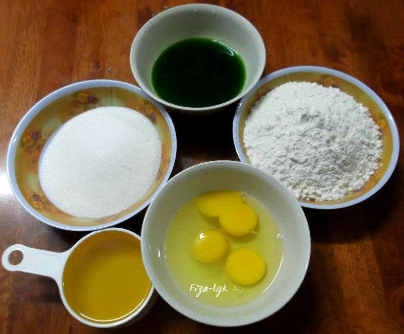 kek pandan fizas cooking Resepi Kek Pandan Paste Enak dan Mudah