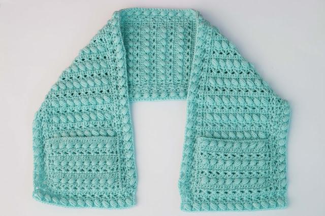 6 -Crochet Imagen Bufanda con bolsillos a crochet y ganchillo por Majovel Crochet
