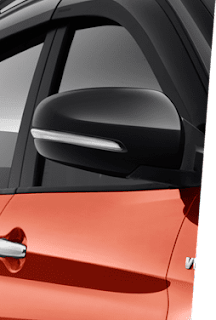 OUTSIDE DOOR MIRROR BUILT IN TURN SIGNAL (ALL) ADJUST & BODY COLORED (ALL) ELECTRICAL FOLD (ALPHA & BETA)