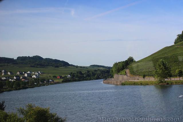 Mosel river in Schengen Luxembourg