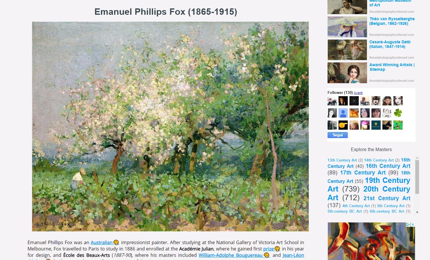 Emanuel Phillips Fox (1865-1915)