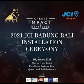 30012021 2021 JCI BADUNG BALI INSTALATION CEREMONY - CREATE IMPACT AND HAPPINES