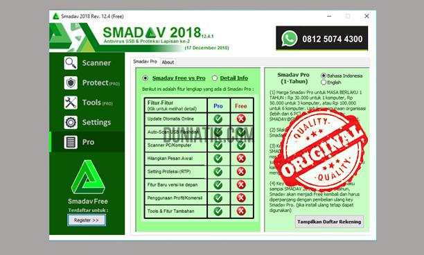 Cara Membeli Antivirus SMADAV Pro Yang Resmi