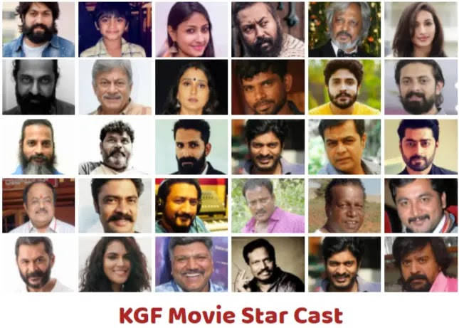 The star cast of the KGF movie and their mesmerizing presence