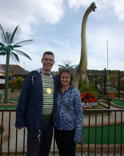 Photo of the Jurassic Adventure Golf course at Santa Fe Fun Park in Swanage